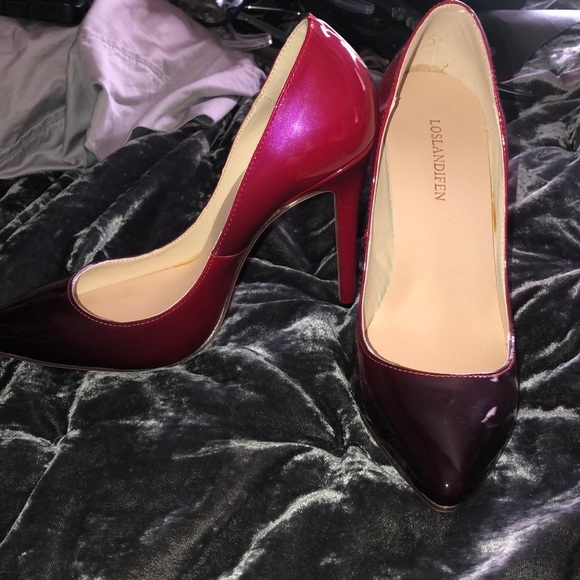 Bottom Pink And Black Ombr Heels   Poshmark